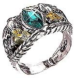 Inception Pro Infinite Rgrn - Aragorn Ring Herr der Ringe mit grünem Stein - Geschenkidee für den Menschen (DE 50)