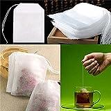 Tea Filter Bags, tessuto non tessuto usa e getta Quanjucheer 100pcs vuota tè string Seal Filter Paper Tea Bags 5.5cm x 7cm White