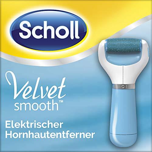 Scholl Velvet Smooth elektrischer Hornhautentferner Express blau (mit Meeresmineralien Rolle für präzise Ergebnisse, 1 Gerät inkl. Ersatzrolle) (Besonderen Artikel Bedürfnissen)