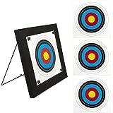 Buchner SET Zielscheibe mit Ständer und 4 Auflagen für Bogenschützen, Foamscheibe 60 x 60 cm mit Auflage 44 x 44 cm zum Austauschen, Schießscheibe für Bogensport, Compoundbogen und Armbrust