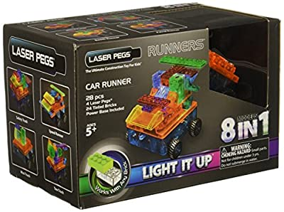 Laser Pegs 8-in-1 Runner Car Construction Set