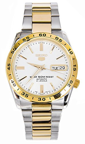 seiko-mens-watch-with-white-dial-automatic-and-multi-colour-stainless-steel-strap-snke04k1