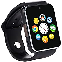 Bingo T50 Bluetooth Smart Watch with Sim Card Slot and Camera-Black with usb led light free