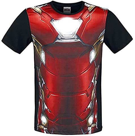 Iron Man T-shirt Costume - Marvel COSTUME IRON MAN T-shirt Homme Multicolore