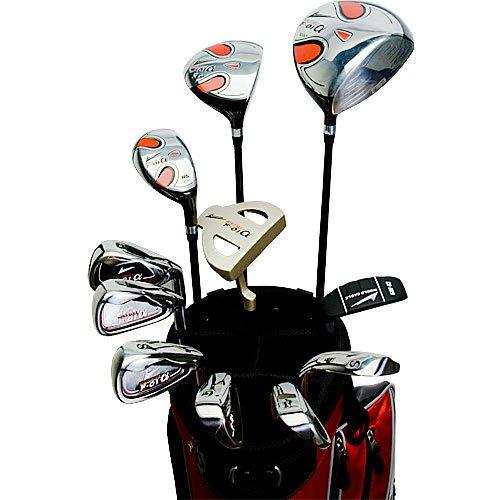 World Eagle f-01Alfa Herren Golf Komplett Set mit Rot Tasche rechts flex-r 14teilig