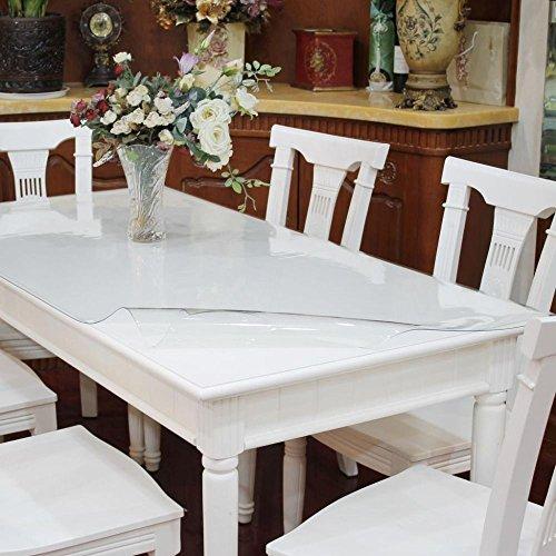 Ertex Tischdecke Tischfolie Schutzfolie Tischschutz Folie Transparent 1,7 mm 1A Qualität Lebensmittelecht ( 80 x 160 cm )