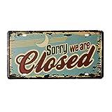 K&C Desafortunadamente, cerrados de chapa retro Signos Coffee House pared de diseño de la placa de metal signo Decoración