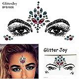 Le visage et le corps bijoux Pierre Précieuse Stickers Glitter Maquillage pour Party Festival Spectacles et Scène bfg1806Multicolore
