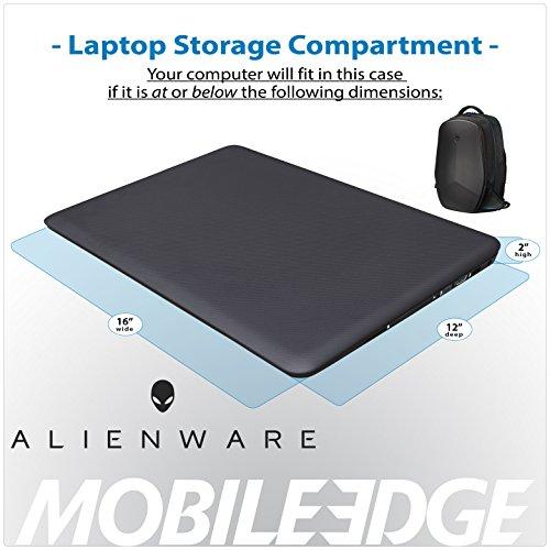 Mobile Edge Alienware 15 Inch Black Vindicator 2.0 Casual Backpack Image 7