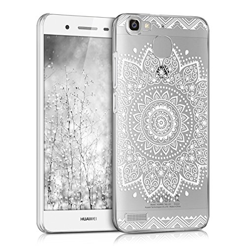 kwmobile Huawei GR3 / P8 Lite SMART Hülle - Handyhülle für Huawei GR3 / P8 Lite SMART - Handy Case in Weiß Transparent