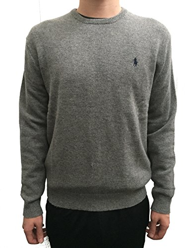 Grau Lammwolle Pullover (Ralph Lauren Pullover Pulli Lambswool Anthrazit Grau Wolle M)