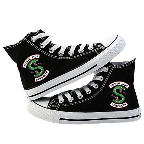 URMOSTIN Unisex Riverdale Sneaker Casuale Scarpe di Tela Tennis Running Walking Sportive Sneakers High-Top Scarpe da Ragazzo e Ragazze Traspirante Scarpe da Ginnastica Uebergroessen Flats per Bambini
