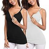 Derssity Nursing Tank Tops Maternity Shirt Nursing Cami Pregnancy Clothes for Breastfeeding