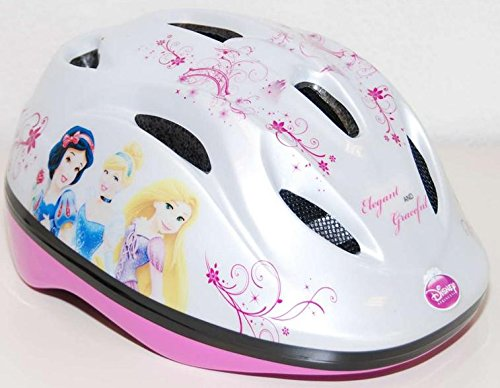Fahrradhelm für Kinder 51-55cm Spider-Man, Turtles, Cars, Princess, Minnie Mouse 4-12 Jahre (Princess)