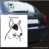 blattwerk-design, KFZ-Aufkleber, Bullterrier, Hunde, Hunderassen, Pitbull (M070 Schwarz)