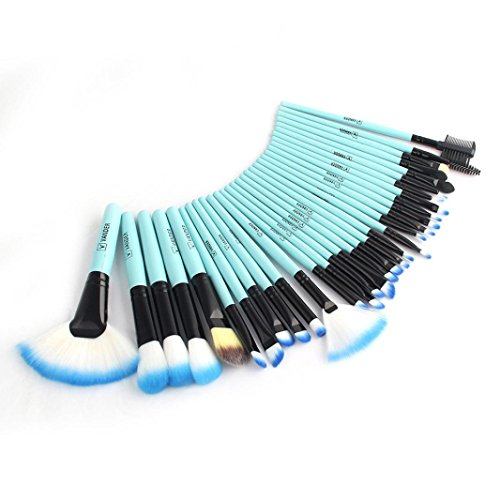 Brush Cosmétique, JANLY Pro maquillage brosses cosmétiques Powder Foundation fard à paupières nail art pinceau outil (Bleu)