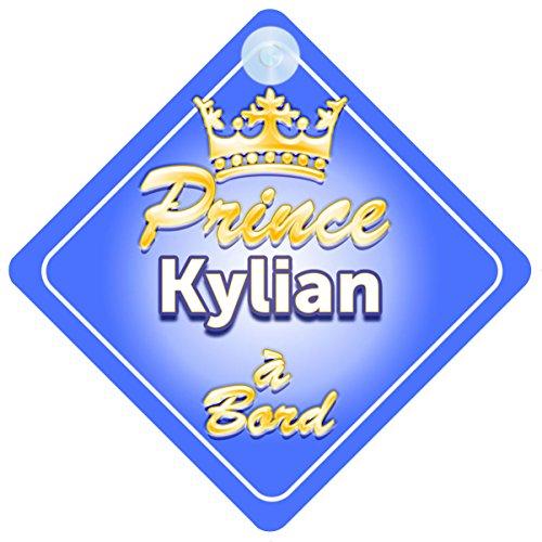 Couronne Prince Kylian Signe Pour Voiture Enfant/Bébé à Bord