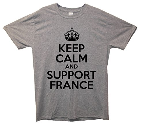 Keep Calm and Support France T-Shirt Grau