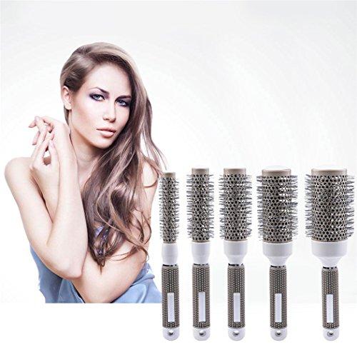 inkint 5 Tailles Nano Thermique Céramique Ionique Ronde Baril Brosse de Cheveux Pour le Séchage des Cheveux/Coiffage/Curling Avec Poignée Ergonomique