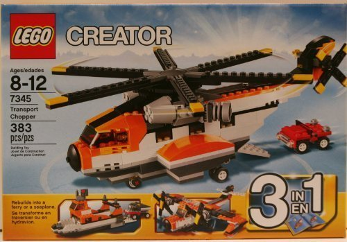 LEGO-7345-Creator-Transport-Chopper-3-in-1-Set-SeaPlane-Ferry-by-Lgp