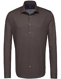 SEIDENSTICKER Herren Hemd Tailored Extra langer Arm Bügelleicht Businesshemd Kent-Kragen Kombimanschette weitenverstellbar