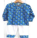 #2: Frangipani Unisex Cotton Pyjama Set