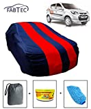 #3: Fabtec Car Body Cover for Maruti Alto 800 Red & Blue Colour with Storage Bag + Air Freshener + Microfiber Glove Combo!