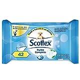 Scottex Pulito Completo, Carta Igienica Umidificata, Confezione da 42 Salviette