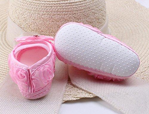 Da.Wa Bébé Chaussures Enfant,Princesse Bébé Chaussures Fond Mou,Chaussures Bouche Carrée Chaussures Pour Eenfants Chaussures Bébé Sexe Féminin au Printemps et en été Rouge