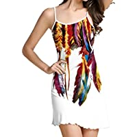 2018 Fashional Womens Imprimir sin mangas Camisole Casual Mini vestido de banco vestido de fiesta cortos