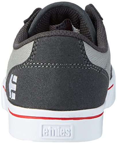 Etnies Kids Barge Ls, chaussons d'intérieur mixte enfant Grau (Dark Grey/Grey/Red)
