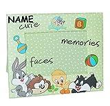 Unbekannt Bilderrahmen Looney Tunes incl. Namen - Tweety Bugs Bunny Hase - Fotorahmen für Foto´s Kinder - Standrahmen Rahmen grüne Punkte