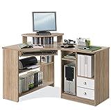 Eckschreibtisch Schreibtisch Computertisch Arbeitstisch LOU 4   Eiche Sonoma   Weiß