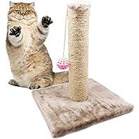 BPS® Juguete Rascador para Gatos con campana, Scraper para Gato, Animales Domésticos Diferente Modelo para elegir Color se envia al azar 28 x 28 x 32cm (Modelo 2) BPS-3158*1