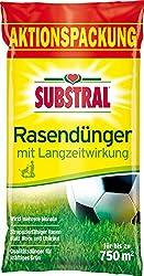 Substral Rasendünger, mit Langzeitwirkung, 100 Tage Langzeitdüngung, staubfreies Granulat mit umhüllten Langzeitstickstoff, 15 kg für 750 m²
