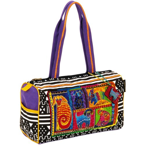 laurel-burch-laurel-burch-medium-satchel-zipper-top-15-inch-by-5-inch-by-10-inch-dog-tails-patchwork