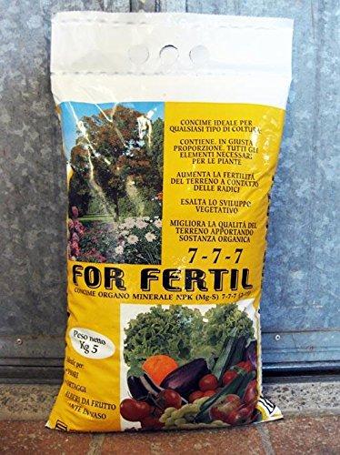 Geosism & Nature pour Fertil NPK (MG, S) 7-7-7 (2.15) (5 kg), Engrais granulaire pour Potager, Plantes et Fleurs