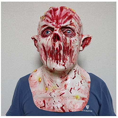XINLAI Neuheit Halloween Full Head High Simulation Horror Maske Vampir Horror Scary Latex Gesichtsmaske Kopfbedeckung Lipless Ghost DäMon Zombie - Bilder Von Monster High Kostüm