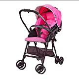Leichter Faltbarer Landschaftswagen des Kinderwagens Kann Sitzen Und Sich Zurücklehnen (Farbe : Pink)