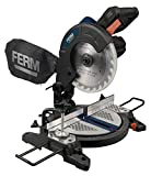 FERM MSM1037 Mitre Saw - Single bevel mitre saw - Crosscut mitre saw - 1300W - Ø210mm - Aluminium base plate - Laser - Incl. Quality 48T Saw Blade and dust collection bag