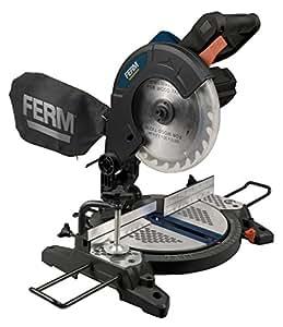 FERM MSM1037 Scie à onglet 1300W 210mm - Base en aluminium - incl. Laser, Sac à poussière, lame TCT (48T)   ARTISAN  