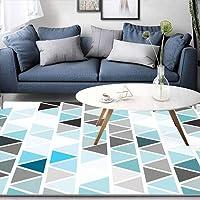 HYRL Alfombra nórdica Abstracta geométrica, 3D Impreso Alfombra de Gran tamaño para casa Moderna Vida Alfombra Espesar Sala de Estar alfombras Arte Decor,#3,140200