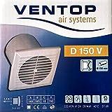 Ventilator Ventop D 150 V Badventilator für Wand- und Deckeneinbau