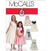 McCalls M5795 - Patrones de costura (vestidos para niña, 4 modelos, en inglés
