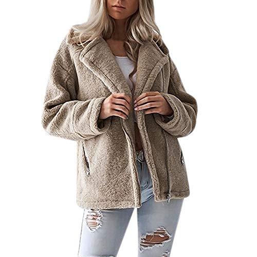 i-uend 2019 Damen Mantel,Herbst Winter Langarm Mantel Warmer Lange Mantel Weste Windjacke Kapuzenpullover Reißverschluss Mantel Baumwolle Mantel Outwea