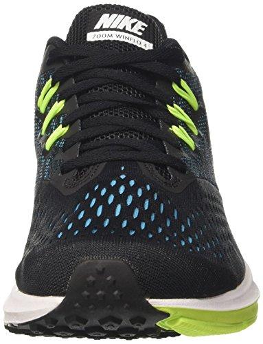 Zoom Nero Bianco Winflo 4 Blu Volt Da nero Di Corsa Cloro Nike Uomo Scarpe FfwSfqd