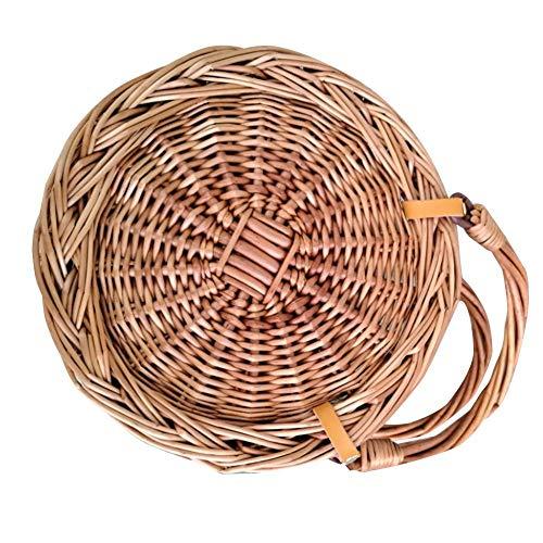 getherad Strand Bamboo Bag - Bamboo Bag Sling Bag - Handtaschen Straw Beach Bag - Ausgehöhlte Gewebte Tasche - Geeignet Für Urlaub Am Meer Freizeit, Strand Tourismus, Mode Essentials