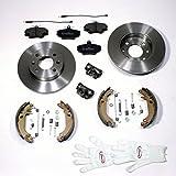 Autoparts-Online Set 60003108 Bremsscheiben + Bremsbeläge Vorne + Bremsbacken + Radbremszylinder + Zubehör Hinten