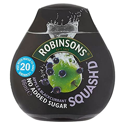 Robinsons Squash'd Apple & Blackcurrant No Added Sugar (66ml) - Pack of 6