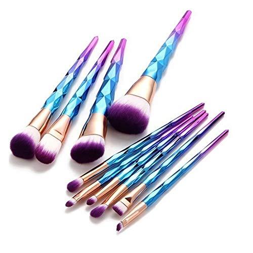 HZSLLL Maquillaje cosmético Pinceles Set Fundación Cara Corrector Pinceles Fundación Blush Contorno Nylon Pelomaquillaje Herramienta